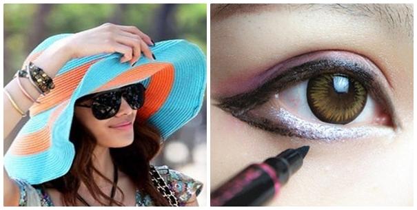 Đeo kính mắt tránh bụi và không make up mắt trong 2 tuần