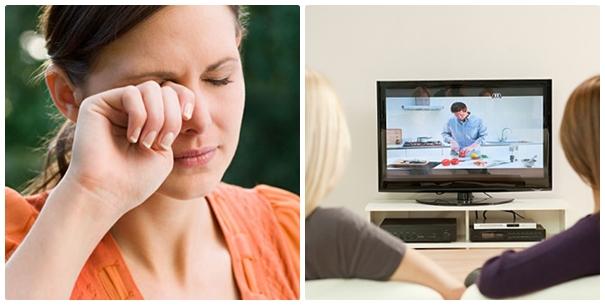 Xem tivi nhiều khiến mắt bị mỏi và nhanh chóng già nua hơn
