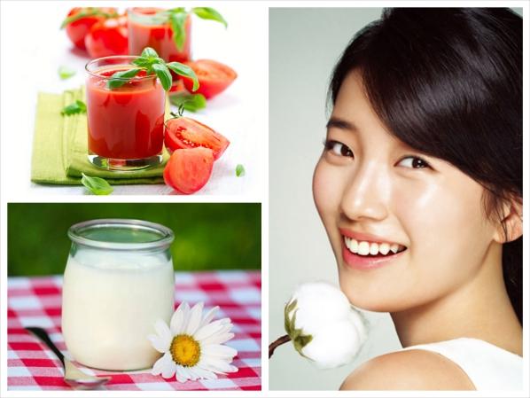 Sở hữu mắt 2 mí trẻ đẹp với nước ép cà chua và sữa chua