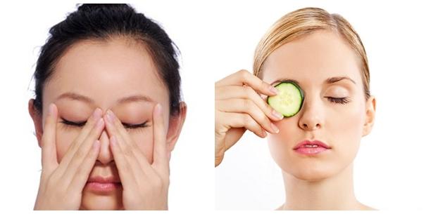 Bạn nên tích cực massage và đắp mặt nạ cho đôi mắt
